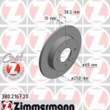 Disc frana SMART FORFOUR 1.1 - ZIMMERMANN 380.2167.20 - Discuri frana