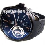 Pendulum Mechanical Watch ! ! ! Black Case ! ! Cutie Cadou ! ! ! - Ceas barbatesc, Lux - sport, Mecanic-Manual, Inox, Cauciuc, Analog