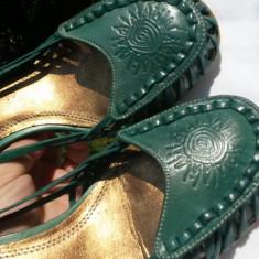 Sandale dama Aldo piele naturala ITALIA verde nr.38 NOI
