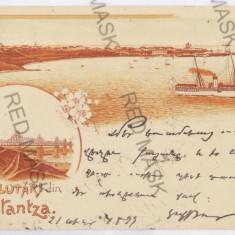 1172 - L i t h o, CONSTANTA - old postcard - used - 1899 - Carte Postala Dobrogea pana la 1904, Circulata, Printata