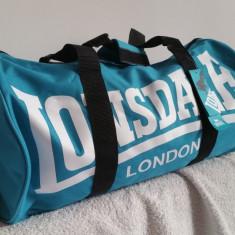 Geanta sala LONSDALE barrel bag bleu, noua, originala ! - Geanta Barbati, Marime: Medie, Geanta tip postas, Panza