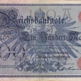 GERMANIA 100 marci 1908 VF+!!!