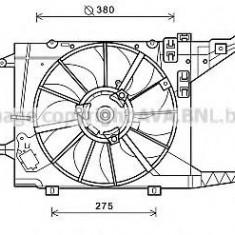 Ventilator, radiator DACIA SANDERO 1.6 16V Bifuel - PRASCO RT7550 - Ventilatoare auto Alkar