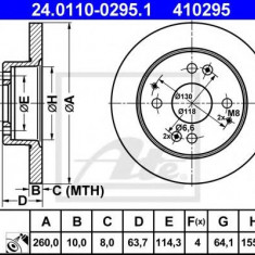 Disc frana HONDA ACCORD Mk VII 1.8 i - ATE 24.0110-0295.1 - Discuri frana REINZ