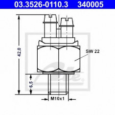 Comutator, lampa frana - ATE 03.3526-0110.3 - Intrerupator - Regulator Auto