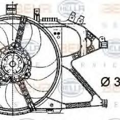 Ventilator, radiator OPEL VITA C 1.0 - HELLA 8EW 009 157-441 - Ventilatoare auto