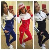 Trening adidas new young dama MODEL TOAMNA-PRIMAVARA 2016 - Trening dama Adidas, Marime: S, M, L, XL, XXL, Culoare: Bleumarin, Negru, Rosu, Bumbac
