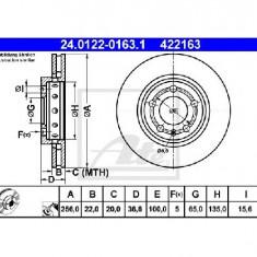 Disc frana VW GOLF Mk IV 1J1 PRODUCATOR ATE 24.0122-0163.1 - Discuri frana