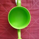 Masca ghiveci - stropitoare de metal verde - diametru 12 cm - Suport flori