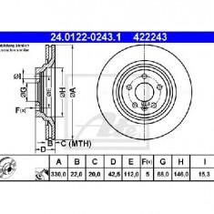 Disc frana AUDI A6 4F2 C6 PRODUCATOR ATE 24.0122-0243.1 - Discuri frana