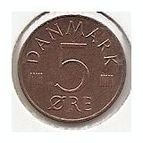Danemarca 5 Ore 1979 - Frederik IX, K70, 15.5 mm KM-859.2, Europa