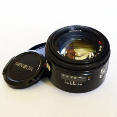 Obiectiv DSLR - Obiectiv Minolta AF 50mm f/1.4 pentru Sony Alpha