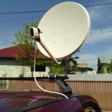 Suport cu antena si lnb pentru rulota