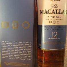 R A R E - whisky Macallan triple cask, 12years. single malt, cl 70 gr 40