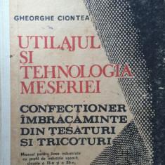 UTILAJUL SI TEHNOLOGIA MESERIEI CONFECTIONER IMBRACAMINTE - Ciontea