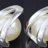 Cercei suflati argint model cu perle