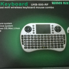 Mini Tastatura Wireless Keyboard Mouse Combo Android Smart TV 2.4Ghz, Fara fir, USB