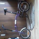 Bicicleta pliabil de aluminiu german 3 viteze foarte comod si usor. - Bicicleta pliabile, 19 inch, 22 inch, Numar viteze: 3
