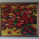 Tablou. pictura in ulei pe panza - Pictor roman, Flori, Altul