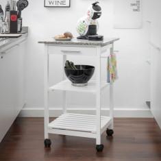 Cărucior de Bucătărie din Lemn cu Granit - Carucior copii Landou