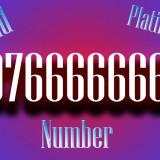 Numar Aur VIP Gold Platinum. Cartela SIM numar frumos 0766.66.66.6x - Cartela Cosmote