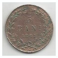 Monede Romania, An: 1867, Cupru (arama) - ROMANIA 5 BANI 1867 WATT [1] Livrare in cartonas