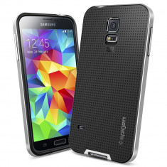 HUSA NEO HYBRID SAMSUNG GALAXY S5 BONUS FOLIE ECRAN - Husa Telefon Samsung, Argintiu