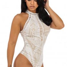J454-2 Body sexy din dantela model crosetat - Body dama, Marime: M/L