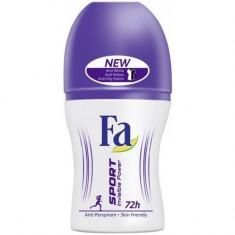 Deodorant antiperspirant roll-on Fa Sport Invisible pentru femei, 50 ml