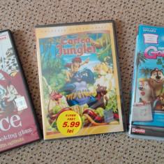 Desene animateDVD:Alice in tara din oglinda, Cartea Junglei, Goldilocks si 3 ursi - Film animatie Altele, Romana