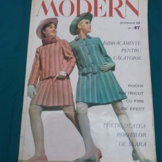 REVISTA MODERN PRIMĂVARA 1968 *NR. 47 - Revista moda