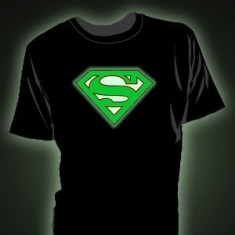 Tricou fosforescent Superman