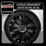 Capace ornament jante Royal RC BL 4buc - Negru - 14' - CRD-VER1421BL - Capace Roti