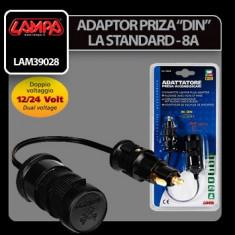 Adaptor incarcator - Adaptor priza bricheta DIN la Standard- 12/24V 8A - CRD-LAM39028