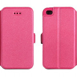 Husa Samsung Galaxy J1 J120 2016 Flip Case Inchidere Magnetica Pink - Husa Telefon Samsung, Roz, Piele Ecologica, Cu clapeta, Toc