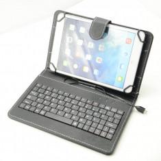 Husa cu Tastatura Tableta 7 inch Universala Black - Husa Tableta, 7 inch