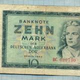 A 994 BANCNOTA- GERMANIA-DDR -10 MARK -ANUL 1964 -SERIA -starea care se vede, Asia
