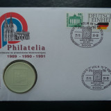 1991 Philatelia - FDC si medalie ceramica., Europa