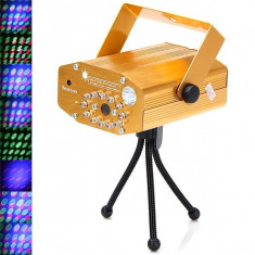 Mini Disco Laser Light cu leduri si telecomanda YX-032 - Laser lumini club