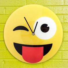 Ceas de Perete Emoticon Wink