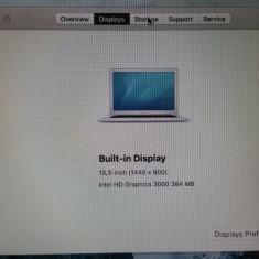 Laptop Macbook Air Apple, 13 inches, Intel Core i5 - MacBook Air 13 inch mid 2011 I5 128 SSD 4GB stare f buna A1369