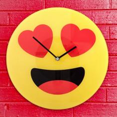 Ceas de Perete Emoticon Hearts