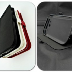 Husa Telefon - Toc FlipCover Stand Magnet Sony Xperia X NEGRU