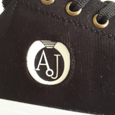 Tenisi Adidasi Armani Jeans negru BARBATI - Tenisi barbati Armani, Marime: 40, 41, 42, 43, 44, Culoare: Din imagine, Textil