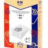 Sac aspirator EIO SOLAC 6+6A, hartie, 5X saci + 2 fitre, K&M