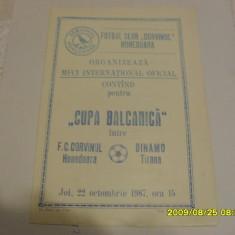 Program Corvinul hd. - Dinamo Tirana - Program meci