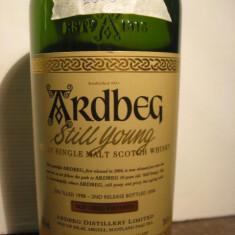 R A R E - whisky ardbeg still young, 1998 - 2008, cl 70 gr 56, 2
