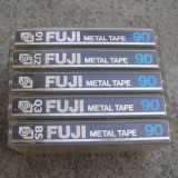 Deck audio - Set 5 casete Fuji Metal 90