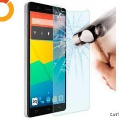 Husa, Vodafone Smart 4, Negru, Piele Ecologica, Husa, Cu clapeta - FOLIE STICLA SECURIZATA LENOVO A6000 / A6010 TEMPERED GLASS