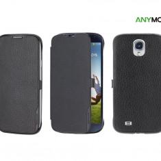 Husa Anymode Samsung Galaxy S4 i9500 i9505 i9502 + folie + stylus - Husa Telefon Anymode, Alb, Piele